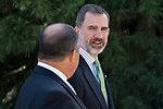 King Felipe VI of Spain and President of Costa Rica Republic, Luis Guillermo Solis Rivera during his meeting at Zarzuela Palace in Madrid, May 08, 2017. Spain.<br /> (ALTERPHOTOS/BorjaB.Hojas)