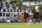WELLINGTON, FL - FEBRUARY 05:  Nico Escobar #1 of Orchard Hill and Matias Torres Zavaleta #3 of Valiente II,  race to gain control of the ball, during one of the early matches of the Ylvisaker Cup at the International Polo Club Palm Beach on February 05, 2017 in Wellington, Florida. (Photo by Liz Lamont/Eclipse Sportswire/Getty Images)