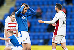 St Johnstone v Hamilton Accies…30.12.20   McDiarmid Park     SPFL<br />Callum Booth holdshis head after shooting wide<br />Picture by Graeme Hart.<br />Copyright Perthshire Picture Agency<br />Tel: 01738 623350  Mobile: 07990 594431