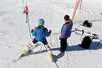 Skipiste, Station Höfatsblick auf dem Nebelhorn bei Oberstdorf im Allgäu, Bayern, Deutschland<br /> piste, Hillstation Höfatsblick,  Mt.Nebelhorn near Oberstdorf, Allgäu, Bavaria, Germany