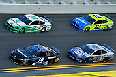 #19: Martin Truex Jr., Joe Gibbs Racing, Toyota Camry SiriusXM, #2: Brad Keselowski, Team Penske, Ford Mustang MoneyLion, #4: Kevin Harvick, Stewart-Haas Racing, Ford Mustang Busch Light #PIT4BUSCH, and #12: Ryan Blaney, Team Penske, Ford Mustang Menards / Peak