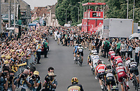 bunch sprint finish with Marcel Kittel (DEU/QuickStep Floors) beating Edvald Boasson Hagen (NOR/Dimension Data) by 0,0003 seconds (!!!) or 6mm<br /> <br /> 104th Tour de France 2017<br /> Stage 7 - Troyes › Nuits-Saint-Georges (214km)