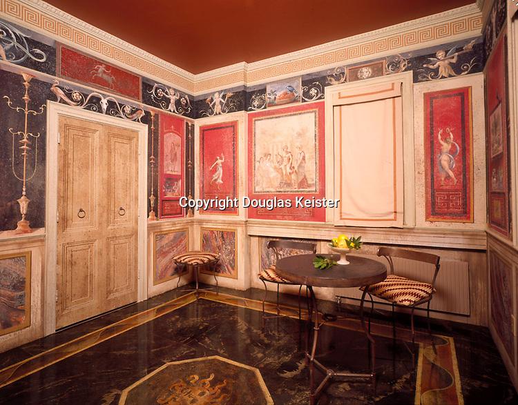 """The Trompe l'oeil House of Carlo Marchiori """"Catoga"""" in Calistoga California"""