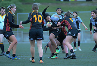 Action from the Wellington 1st XV girls secondary schools premier one rugby semifinal between St Mary's College and Kapiti College at Wakefield Park in Wellington, New Zealand on Wednesday, 9 September 2020. Photo: Dave Lintott / lintottphoto.co.nz