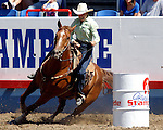 WPRA member Delores Toole turned in the fast time in the Womens Barrel Race with a time of 17.63 on July 29th at the Greeley Independence Stampede Rodeo in GReeley, Colorado.