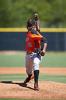 San Francisco Giants pitcher Melvin Adon (55) during an Instructional League game against the Los Angeles Angels of Anaheim on October 13, 2016 at the Tempe Diablo Stadium Complex in Tempe, Arizona.  (Mike Janes/Four Seam Images)