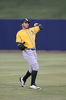 Jhonny Rodriguez (17) of the AZL Athletics throws before a game against the AZL Brewers at Maryvale Baseball Park on June 30, 2015 in Phoenix, Arizona. Brewers defeated Athletics, 4-2. (Larry Goren/Four Seam Images)