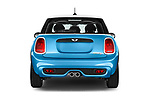 Straight rear view of 2017 MINI Cooper S 5 Door Hatchback Rear View  stock images