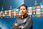 Atletico de Madrid's coach Diego Pablo Cholo Simeone in press conference before Champions League training session. April 4,2016.(ALTERPHOTOS/Acero)
