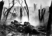 Gun crew from Regimental Headquarters Company, 23rd Infantry, firing 37mm gun during an advance against German entrenched positions.  1918. (Army)<br /> Exact Date Shot Unknown<br /> NARA FILE #:  111-SC-94980<br /> WAR & CONFLICT BOOK #:  620