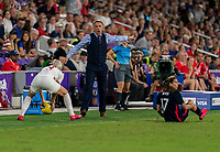 ORLANDO, FL - MARCH 05: Phil Neville of England yells during a game between England and USWNT at Exploria Stadium on March 05, 2020 in Orlando, Florida.