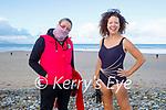 Nollaig Bally and Evelyn McDermott enjoying a stroll and swim in Banna beach on New Years Day.