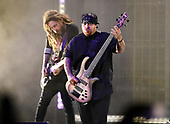 WEST PALM BEACH, FL - AUGUST 05: Brian Head Welch and Reginald Arvizu of Korn perform at The iTHINK Financial Amphitheatre on August 5, 2021 in West Palm Beach Florida. Credit Larry Marano © 2021
