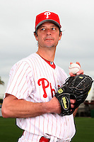 February 24, 2010:  Pitcher Jamie Moyer (50) of the Philadelphia Phillies poses during photo day at Bright House Field in Clearwater, FL.  Photo By Mike Janes/Four Seam Images