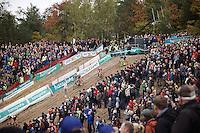 descending into 'The Pit'<br /> <br /> Men Elite Race<br /> Superprestige Zonhoven 2015