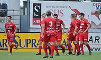 FC GULLEGEM - WITGOOR SPORT DESSEL :<br /> spelers van Gullegem vieren de openingsgoal van Efram Vansuypeene (capt)<br /> <br /> Foto VDB / Bart Vandenbroucke