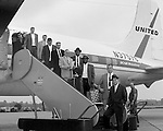 Greater Pittsburgh International Airport:  View of the Cincinnati Reds arriving at the airport for a game with the Pittsburgh Pirates.  The on-location photographic assignment was for United Airlines. The 1960 Cincinnati Reds finished in sixth place in the National League standings, 28 games behind the National League and World Series champion Pittsburgh Pirates!  The highlight for me in this set of images was of the one of Bob Purkey Sr.  I had the opportunity to know Bob Sr while playing high school baseball with his son, Bob Purkey Jr.  For many years, Bob Purkey Sr had a successful insurance business in Bethel Park Pa.