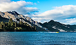 View across Lake Wakatipu from the Queenstown harbor in early morning