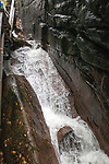 Flume Gorge is an 800 foot long cascading waterfall drop in the Pemigewasset River located in the White Mountain National Forest of New Hampshire.