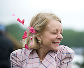 Irv Naylor's wife, Diane, flashes a smile after Decoy Daddy wins the Marcellus Frost.