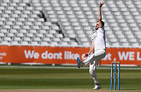 Olly Stone of Warwickshire in bowling action during Warwickshire CCC vs Essex CCC, LV Insurance County Championship Group 1 Cricket at Edgbaston Stadium on 22nd April 2021