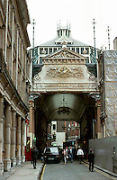 London:  Leadenhall Market 1881.  A Poultry Market here since the 14th Century.  Sir Horace Jones. North Entrance --EC3.  Photo '87.