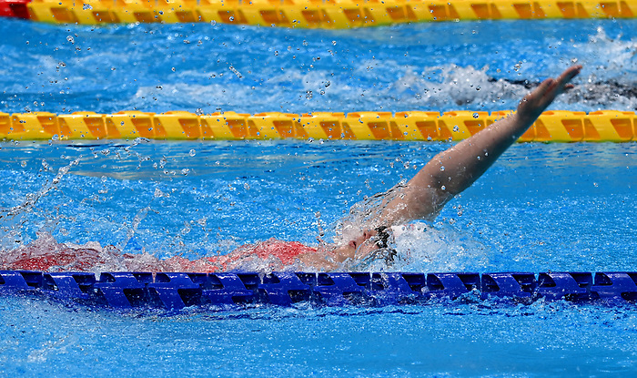 Shelby Newkirk, Tokyo 2020 - Para Swimming // Paranatation.<br /> Shelby Newkirk competes in the women's 100m backstroke // Shelby Newkirk participe au 100 m dos féminin. 09/3/2021.