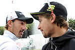 Milan-San Remo favourites Fabian Cancellara (SUI) Trek Factory Racing and Peter Sagan (SVK) Tinkoff Saxo pictured after Stage 7 of the 2015 Tirreno-Adriatico race in San Benedetto del Tronto, Italy. 17th March 2015. <br /> Photo: ANSA/Daniel Dal Zennaro/www.newsfile.ie