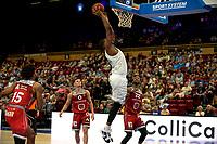 GRONINGEN - Basketbal , Open Dag met Donar - Antwerp Giants , voorbereiding seizoen 2021-2022, 05-09-2021, Donar speler Lotanna Nwogbo op weg naar een score