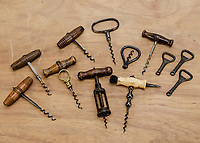 BNPS.co.uk (01202) 558833.<br /> Pic: SpecialAuctionServices/BNPS<br /> <br /> Pictured: Corkscrews and bottle openers come in all shapes and sizes<br /> <br /> What a corker...<br /> <br /> An incredible collection of corkscrews dating back 300 years and from all over the world has emerged for sale for £20,000.<br /> <br /> Retired hotelier François Touzin has had a passion for collecting corkscrews for 45 years and this sale is less than half of what he has amassed in his travels around the globe.<br /> <br /> The 470 corkscrews range from the early 18th century through to miniature corkscrews from the 1970s that were designed for opening travelling ladies' and gentlemen's perfumes and vary in estimates from £50 to £800.<br /> <br /> The collection will be sold with Special Auction Services tomorrow (Tues).