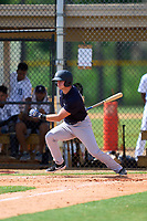 FCL Yankees Grant Richardson (50) bats during a game against the FCL Tigers West on July 31, 2021 at Tigertown in Lakeland, Florida.  (Mike Janes/Four Seam Images)