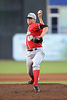 Great Lakes Loons pitcher Jordan Hershiser (40) delivers a pitch during a game against the West Michigan Whitecaps on June 4, 2014 at Fifth Third Ballpark in Comstock Park, Michigan.  West Michigan defeated Great Lakes 4-1.  (Mike Janes/Four Seam Images)