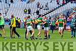 Kerry players celebrate after the All Ireland Senior Football Semi Final between Kerry and Tyrone at Croke Park, Dublin on Sunday.