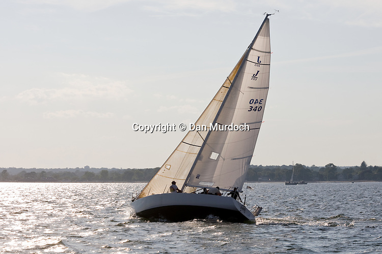 Sailing as the sun sets