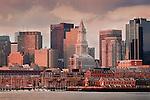 Boston Harbor waterfront, Boston, MA