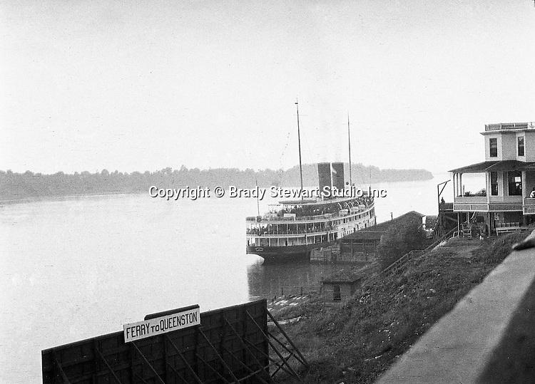 Ontario Canada:  Ferry leaving Queenston Ontario back to Buffalo New York.