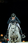 Anne-Sophie Godart of France rides Vidretta m de Bellignies in action during the Gucci Gold Cup as part of the Longines Hong Kong Masters on 14 February 2015, at the Asia World Expo, outskirts Hong Kong, China. Photo by Johanna Frank / Power Sport Images