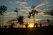 Pará State, Brazil. Sunset in P9 sector near the Fresco River.