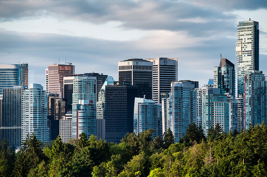 View of downtown skyscrapers, Vancouver