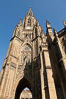 Europe/Espagne/Guipuscoa/Pays Basque/Saint-Sébastien: La Cathédrale du Bon Pasteur de style néogothique
