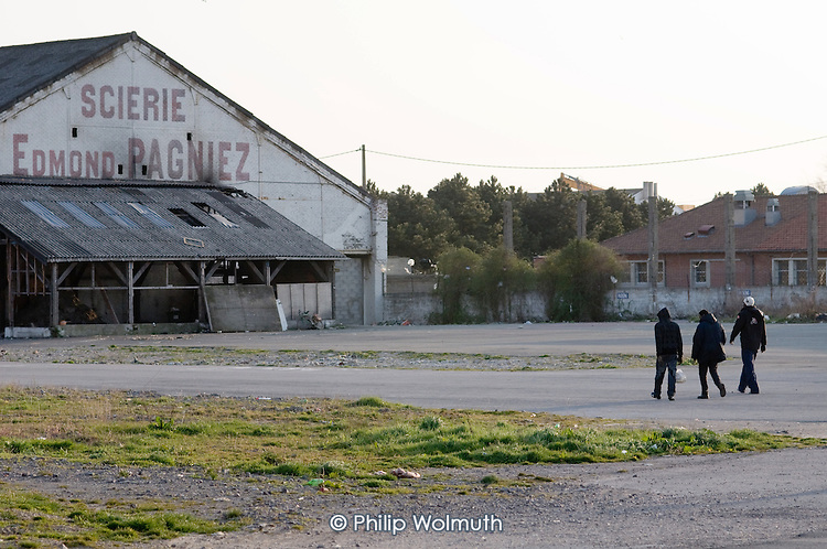 A disused warehouse in Calais known as the Africa House, used as a shelter by up to 100 African migrants seeking to cross the Channel to the UK.