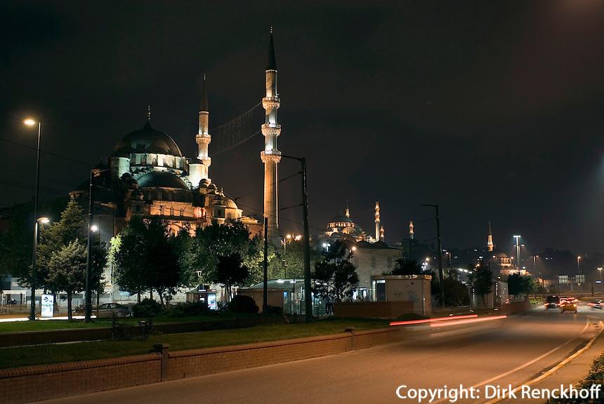 Türkei, Yeni Valide Camii (Moschee) und Süleymanye Camii in Istanbul