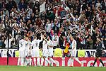 Real Madrid´s Gareth Bale, Benzema, Toni Kroos during Champions League soccer match at Santiago Bernabeu stadium in Madrid, Spain. March, 10, 2015. (ALTERPHOTOS/Caro Marin)
