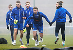 St Johnstone Training…….07.02.20<br />Matt Butcher pictured with David Wotherspoon, Jason Kerr, Liam Craig and Stevie May during a foggy training session at McDiarmid Park this morning ahead of tomorrows Scottish Cup game at Ayr.<br />Picture by Graeme Hart.<br />Copyright Perthshire Picture Agency<br />Tel: 01738 623350  Mobile: 07990 594431