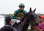September 13, 2014:  Ball Dancing with Joe Bravo win the Grade II Sands Point for 3-year old fillies, going 1 1/8 mile on the turf at Belmont Park. Trainer: Chad C. Brown . Owner: W. S. Farrish and Steve Mooney . Sue Kawczynski/ESW/CSM