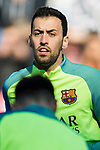 Sergio Busquets Burgos of FC Barcelona prior to the La Liga match between Atletico de Madrid and FC Barcelona at the Santiago Bernabeu Stadium on 26 February 2017 in Madrid, Spain. Photo by Diego Gonzalez Souto / Power Sport Images