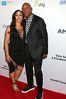 LOS ANGELES - AUG 20:  Jeffrey Osborne, wife at the 21st Annual Harold and Carole Pump Foundation Gala at the Beverly Hilton Hotel on August 20, 2021 in Beverly Hills, CA