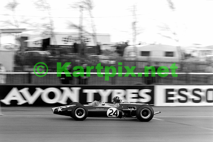 Graham Hill in his Lotus 48 formula 2 car at Silverstone in 1967.<br /> <br /> <br /> XXII BARC 2001967<br /> Wills Trophy<br /> European Trophy for Formula 2 Drivers, Round 2<br /> RAC / Autocar Trophy, Round 2<br /> Silverstone Circuit