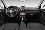 Stock photo of straight dashboard view of 2015 Audi A1 Sportback 5 Door Hatchback Dashboard