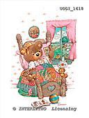 GIORDANO, CUTE ANIMALS, LUSTIGE TIERE, ANIMALITOS DIVERTIDOS, Teddies, paintings+++++,USGI1618,#AC# teddy bears
